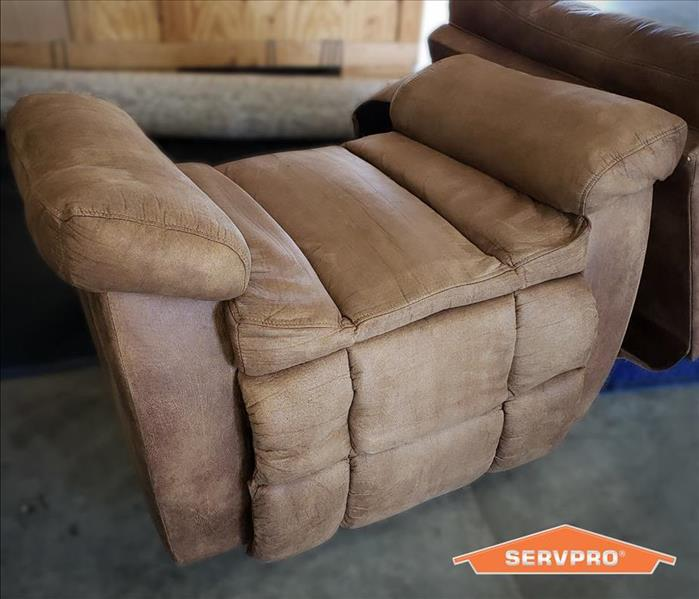 tan rocker recliner cleaned