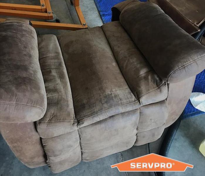 rocker recliner damaged by heavy soot