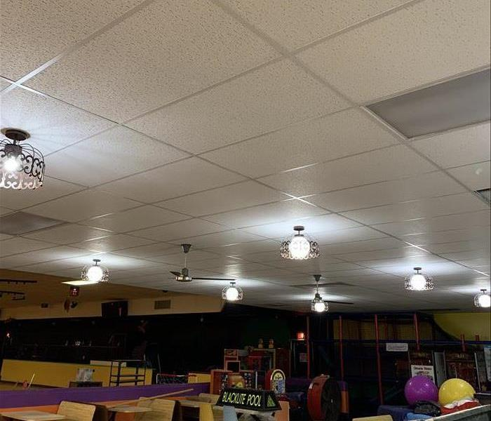 completed ceiling tile installation